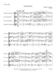 Tiger Rag - Saxaphone Quartet - CHB0007 - Preview